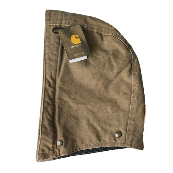 CARHARTT NWT Men's Brown Canvas Quilted Lined Snap